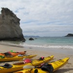 Kayak sur mer jusque Cathedral Cove