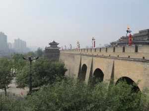 Xi'an: les remparts de la ville